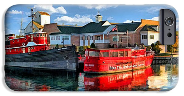 Chicago Paintings iPhone Cases - Door County Maritime Museum Panorama iPhone Case by Christopher Arndt
