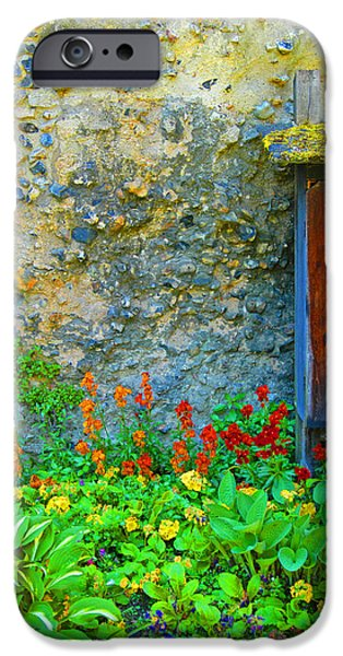 Ruin iPhone Cases - Door In Rock Wall iPhone Case by Patricia Isaman