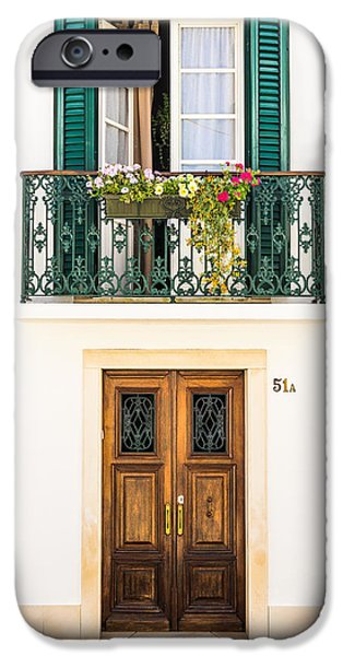 Balcony iPhone Cases - Door No 51A iPhone Case by Marco Oliveira