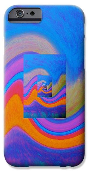Pathway Pastels iPhone Cases - Door of Dimensional Ocean Waves iPhone Case by Peggy Leyva Conley