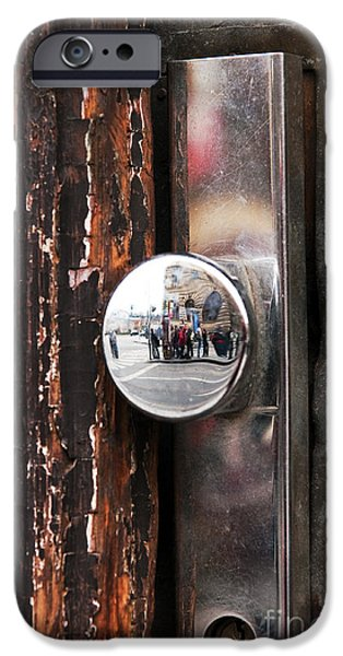 Door Reflections iPhone Case by John Rizzuto