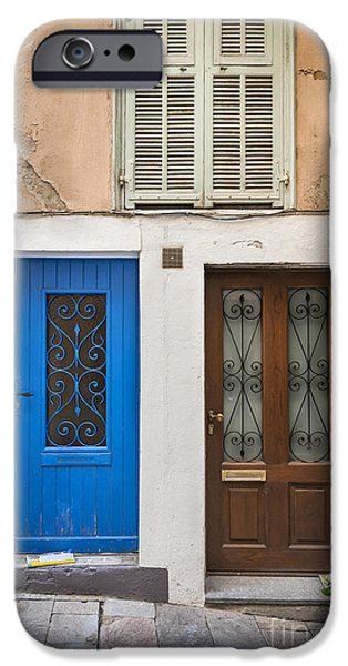Facade iPhone Cases - Doors and window iPhone Case by Elena Elisseeva