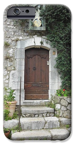 Stone Steps iPhone Cases - Doorway in St Paul de Vence France iPhone Case by Marilyn Dunlap