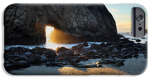 Big Sur Beach iPhone Cases - Doorway to heaven in Big Sur iPhone Case by Pierre Leclerc Photography