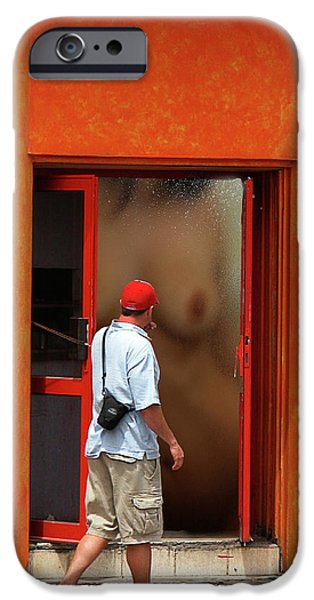 Doorway Undressing iPhone Case by Harry Spitz