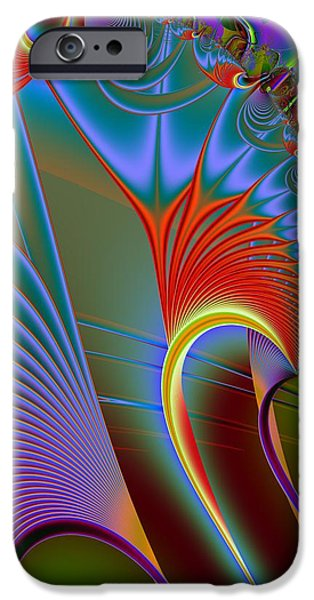 Colorful Abstract iPhone Cases - Dorsal Fin iPhone Case by Solomon Barroa