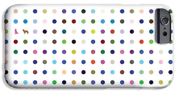Youthful iPhone Cases - Dots and Dogs iPhone Case by Brian  Kirchner