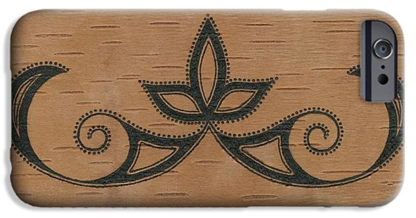 Maine Pyrography iPhone Cases - Double Curve iPhone Case by Sierra Henries