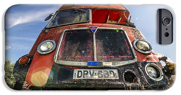 Rust iPhone Cases - Double Decker Bus iPhone Case by Svetlana Sewell