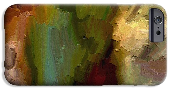 Abstract Expressionism Paintings iPhone Cases - Double Indemnity iPhone Case by Ely Arsha
