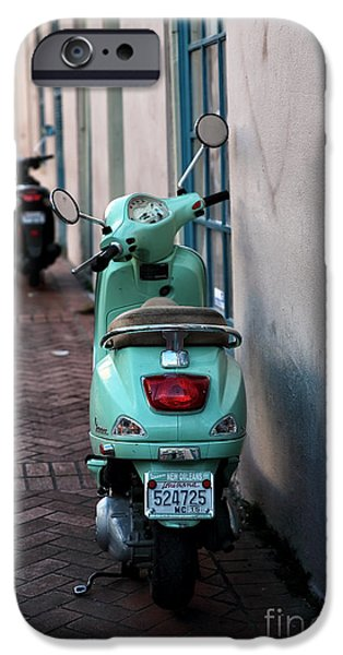 Double Scooters iPhone Case by John Rizzuto