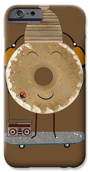 Doughnuts iPhone Cases - Doughnut Jam  iPhone Case by Bri Buckley