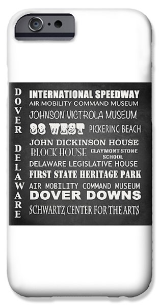 Schwartz Digital iPhone Cases - Dover Famous Landmarks iPhone Case by Patricia Lintner