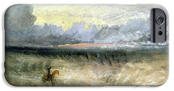 Clouds Pastels iPhone Cases - Dover  iPhone Case by Joseph Mallord William Turner