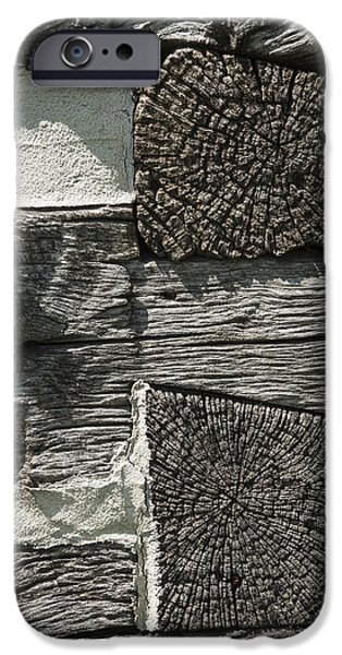 Cabin Corner iPhone Cases - Dovetail Log Structure iPhone Case by Donald  Erickson
