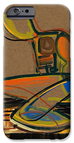 Contemplative Mixed Media iPhone Cases - Down but not out iPhone Case by Russell Pierce