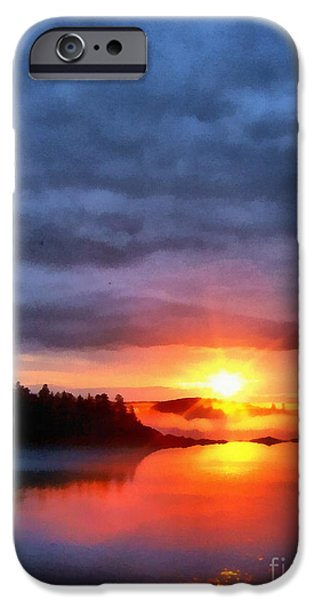 Downeast iPhone Cases - Down East Sunset Maine iPhone Case by Edward Fielding