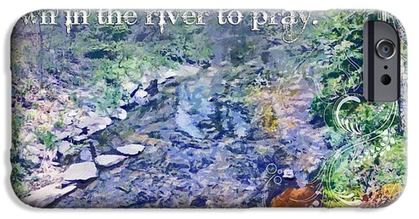 Religious iPhone Cases - Down In The River To Pray iPhone Case by Michelle Greene Wheeler