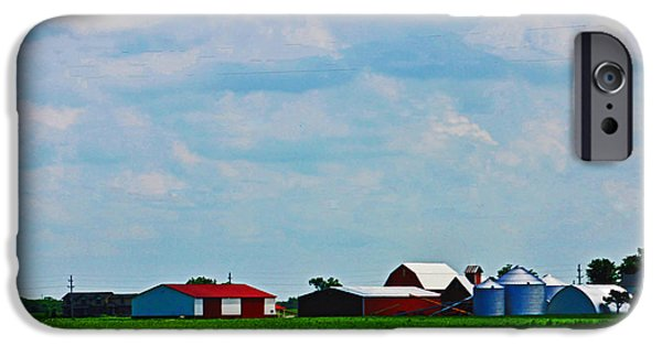 Field. Cloud iPhone Cases - Down on the Farm iPhone Case by Don Baker