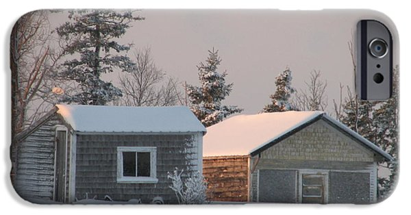 Winter In Maine iPhone Cases - Downeast Maine 3 iPhone Case by Cat Encio