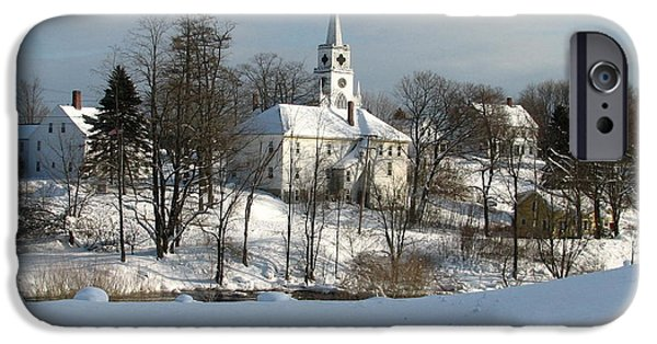 Winter In Maine iPhone Cases - Downeat Maine 4 iPhone Case by Cat Encio