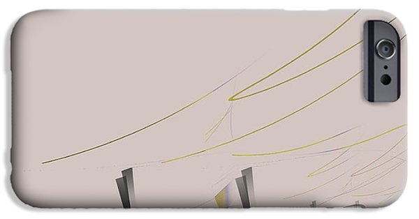Abstract Expressionist iPhone Cases - Downhill Racer iPhone Case by John Krakora