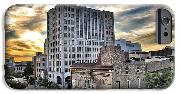 Appleton iPhone Cases - Downtown Appleton Skyline iPhone Case by Shutter Happens Photography