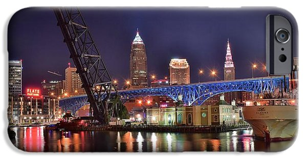 Epic iPhone Cases - Downtown Cleveland iPhone Case by Frozen in Time Fine Art Photography