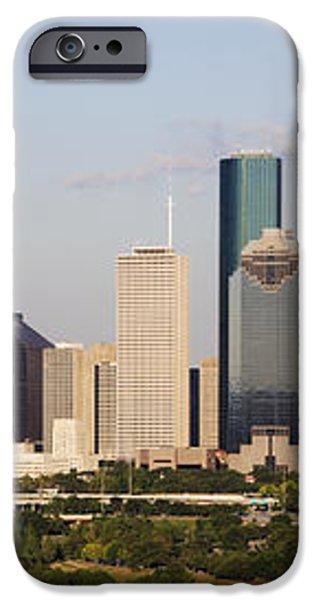 Downtown Houston Skyline iPhone Case by Jeremy Woodhouse