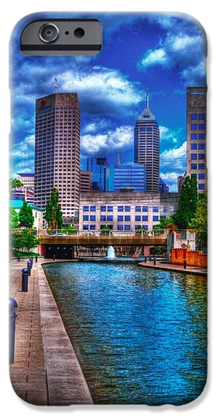 Indianapolis iPhone Cases - Downtown Indianapolis Canal iPhone Case by David Haskett