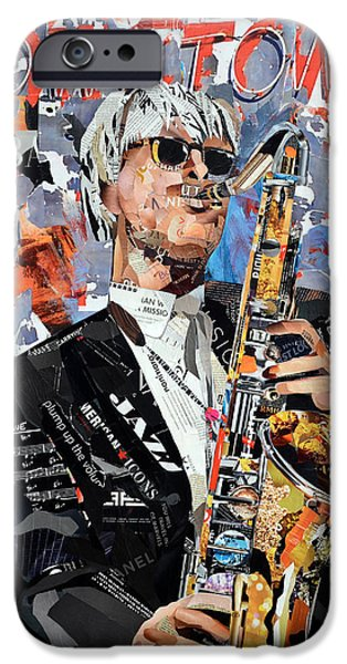 Contemporary Abstract iPhone Cases - Downtown Jazz iPhone Case by James Hudek