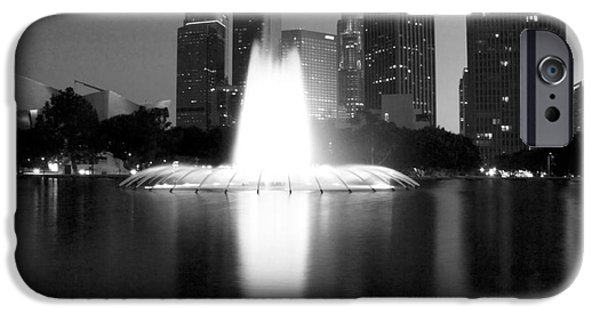 Night Angel iPhone Cases - Downtown Los Angeles 25 iPhone Case by Micah May