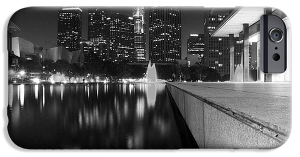 Night Angel iPhone Cases - Downtown Los Angeles 26 iPhone Case by Micah May