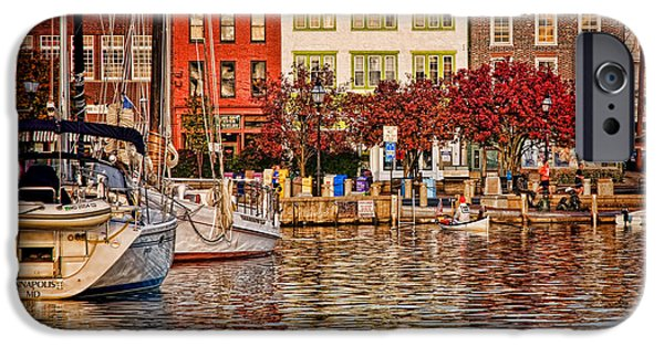 Annapolis iPhone Cases - Downtown iPhone Case by Richard Macquade