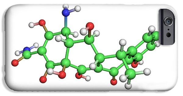 Biochemical iPhone Cases - Doxycycline Antibiotic Molecule iPhone Case by Dr Tim Evans