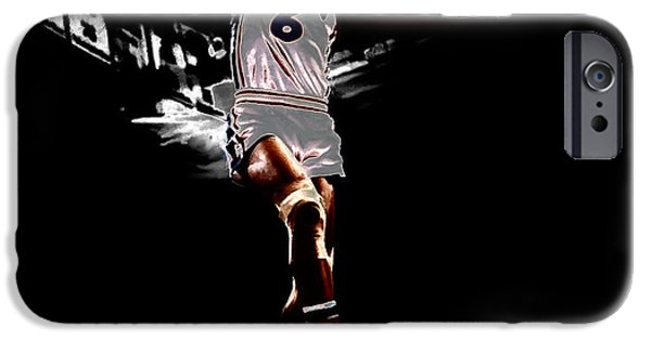 Dr. J iPhone Cases - Dr J Slam iPhone Case by Brian Reaves