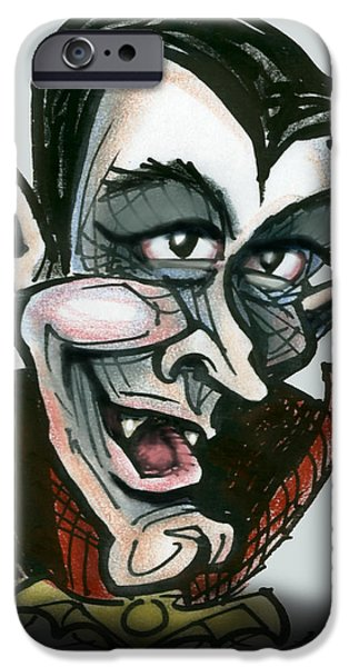 Dracula iPhone Case by Kevin Middleton
