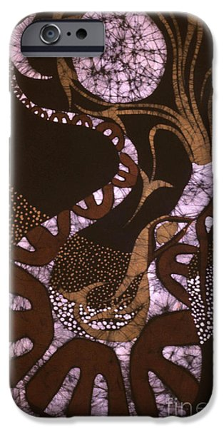 Tribal Tapestries - Textiles iPhone Cases - Dragon Breathing Arrows iPhone Case by Carol Law Conklin