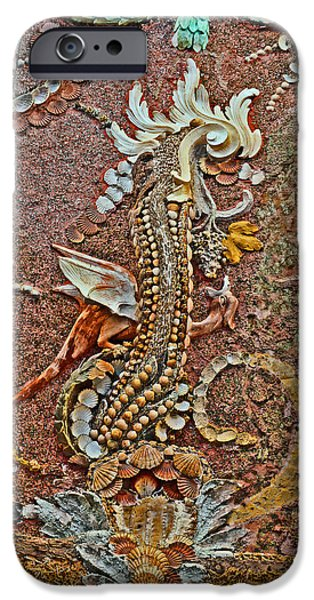 Floral Digital Art Digital Art iPhone Cases - Dragon. Coquina. iPhone Case by Andy Za