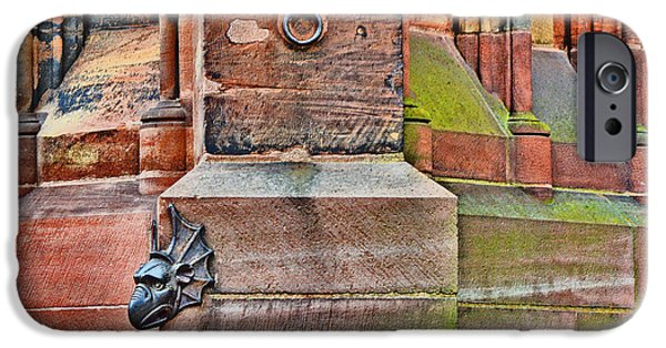 Serpent iPhone Cases - Dragon head. Strasbourg Cathedral. iPhone Case by Andy Za