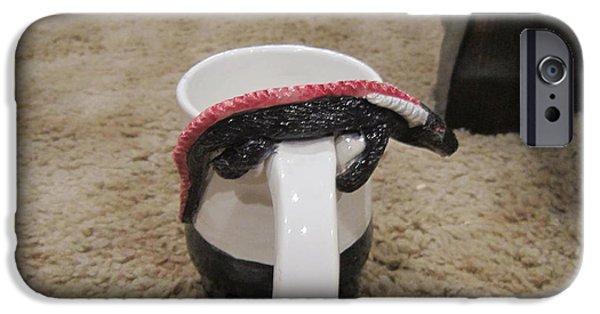 Fantasy Ceramics iPhone Cases - Dragon mug iPhone Case by Adam Perry