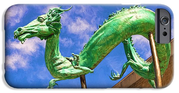 Serpent iPhone Cases - Dragon Sculpture iPhone Case by Terry Weaver