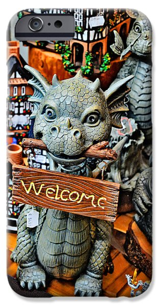 Weapon iPhone Cases - Dragon. Toy. Welcome. iPhone Case by Andy Za