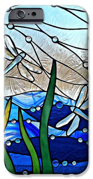 River Glass iPhone Cases - Dragonfly Marsh iPhone Case by Samantha  Calder