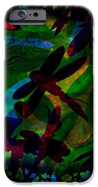 Dragonfly iPhone Case by Rachel Christine Nowicki