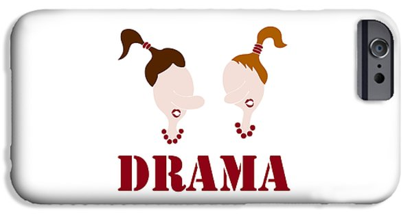 Drama Drawings iPhone Cases - Drama iPhone Case by Frank Tschakert