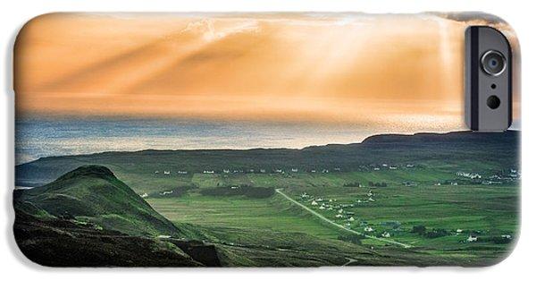 Drama iPhone Cases - Drama on Isle of Skye iPhone Case by Adrian Popan