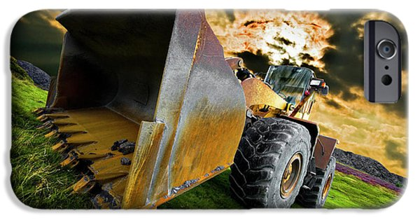 Threatening iPhone Cases - Dramatic Loader iPhone Case by Meirion Matthias