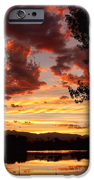 Stock Images iPhone Cases - Dramatic Sunset Reflection iPhone Case by James BO  Insogna