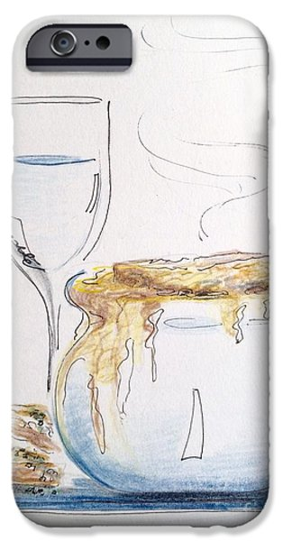 Wine Sipping iPhone Cases - Drapingly Delicious iPhone Case by Barbara Chase